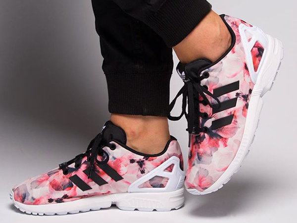 adidas zx flux rose black